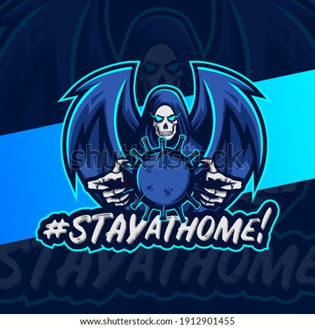 stay at home  reaper skull with