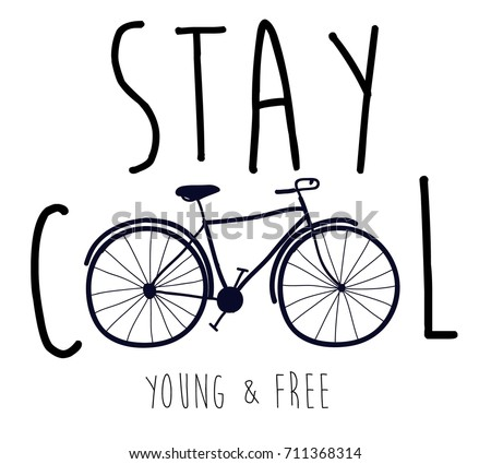 stay cool slogan and hand