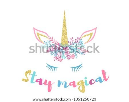stay magical cute unicorn