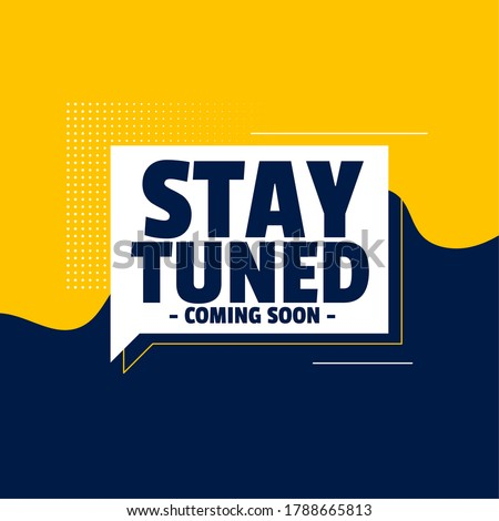 stay tuned coming soon banner design background