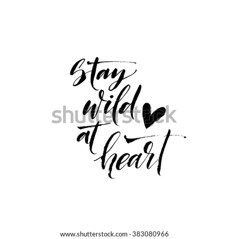 stay wild at heart card hand