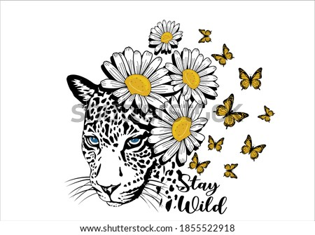 stay wild butterflies and daisies positive quote flower design margarita  mariposa stationery,mug,t shirt,phone case fashion slogan  style spring summer sticker and etc fashion design