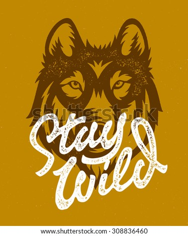 stay wild vintage hand made t...