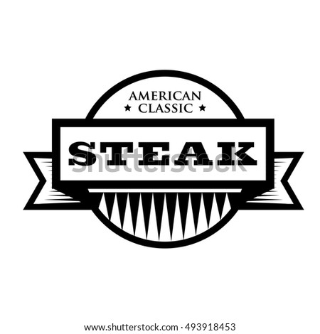 Steak american classic vintage stamp stock vector for American classic logo