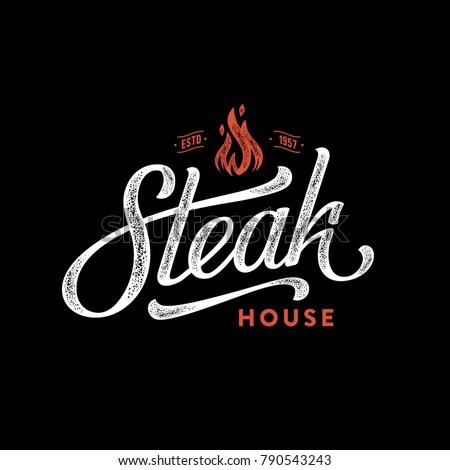 steak house logo. vintage...