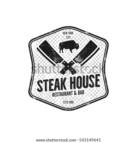 steak house vintage label....