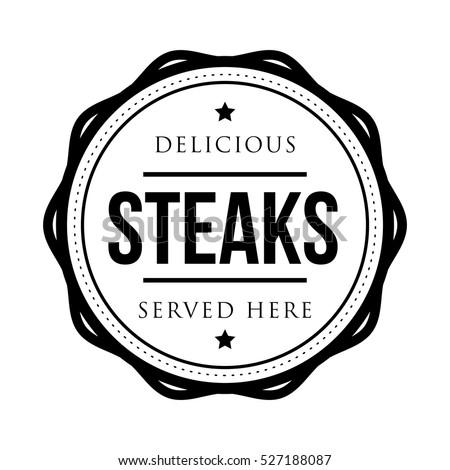 Steaks vintage stamp logo