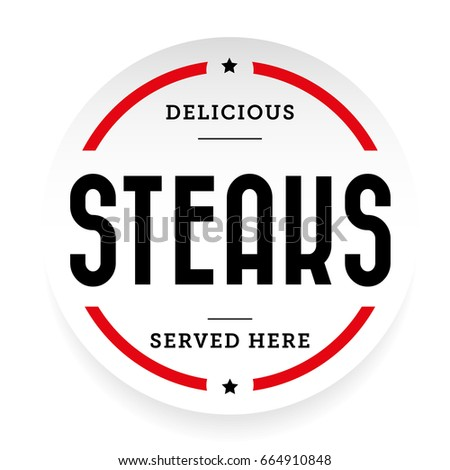 Steaks vintage stamp vector