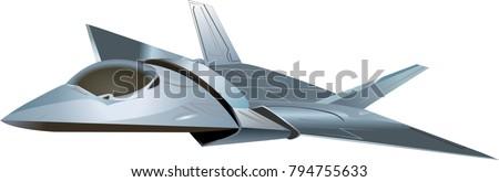 stealth aircraft futuristic on
