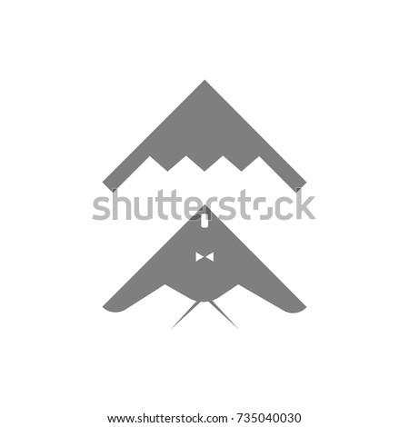 stealth  bomber icon on white