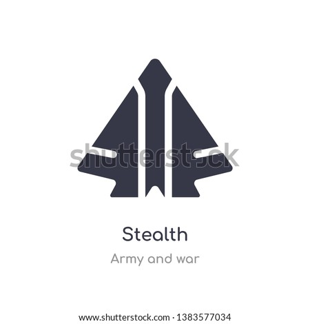stealth icon isolated stealth
