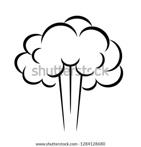 steam puff vector icon