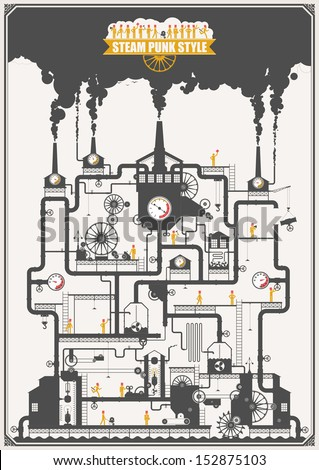 steam punk style   factory