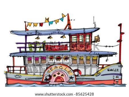 steamer - stock vector