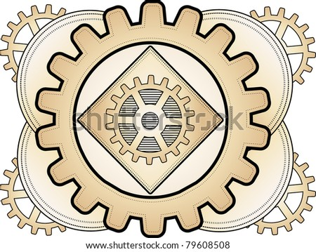 Steampunk Abstract Gear Ornament