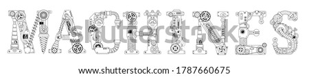 steampunk banner lettering