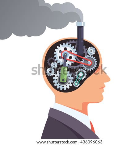 steampunk brain engine with