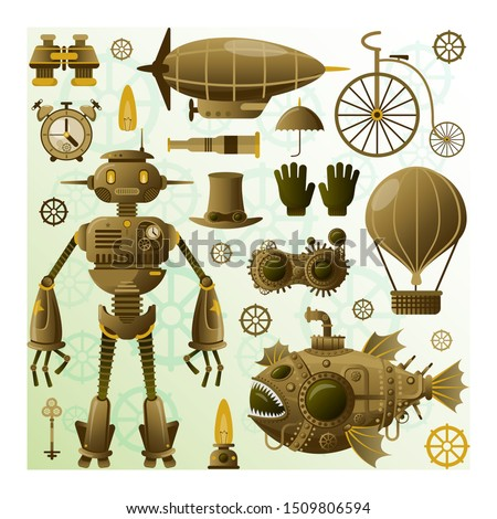 steampunk character and