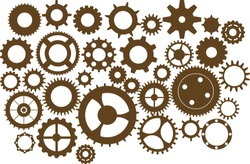 Steampunk cogs and gears, vintage wheels