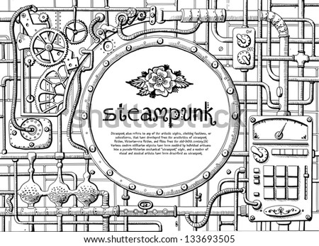 steampunk frame