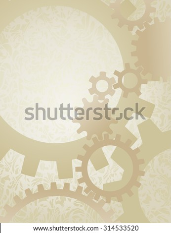 steampunk gears background on