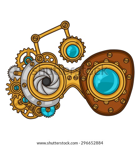 steampunk glasses collage of