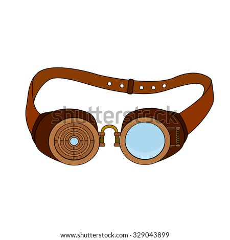 steampunk glasses with metal