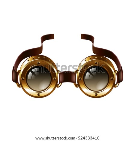 steampunk goggles isolated on