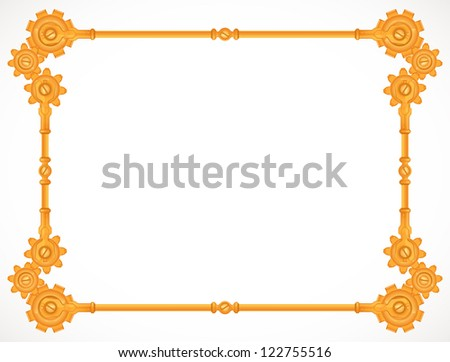 steampunk golden frame