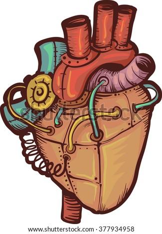 steampunk illustration of a