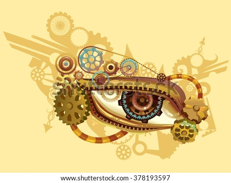 steampunk illustration of an