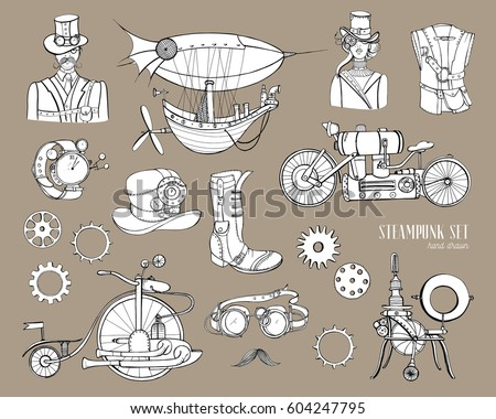 steampunk objects and mechanism