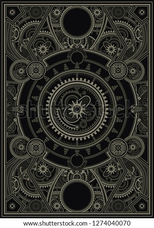 steampunk poster template are
