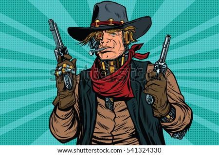 steampunk robot cowboy bandit