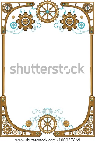 Steampunk style frame
