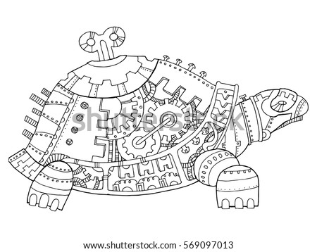 Mechanical Drafting Drawings Sketch Coloring Page