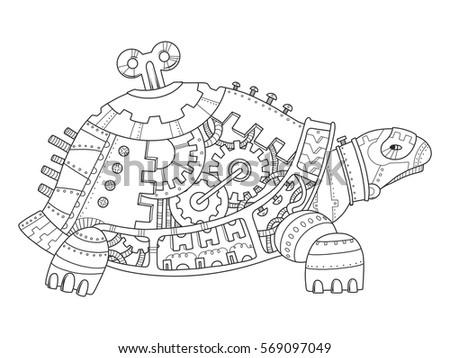 steampunk style turtle