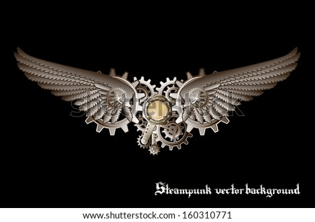 steampunk vings vector