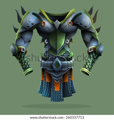 steel armor vector