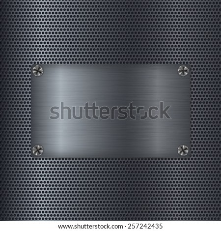 steel background with blank