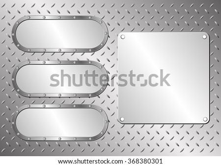 steel background with metal