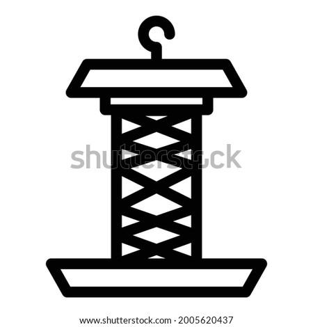 steel bird feeder icon outline