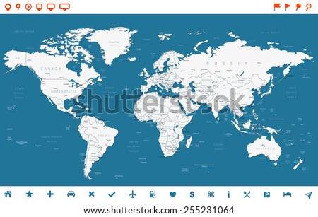 World Countries Map Vector Download Free Vector Art Stock - World map with countries