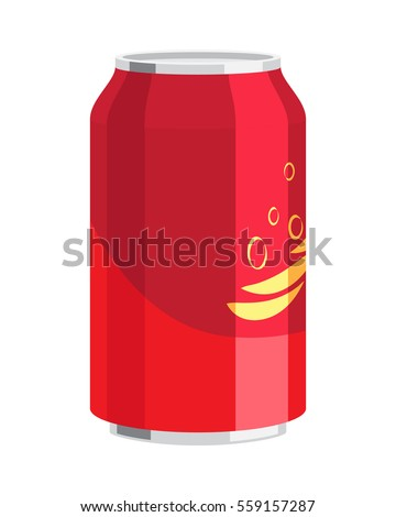 steel can of drink vector