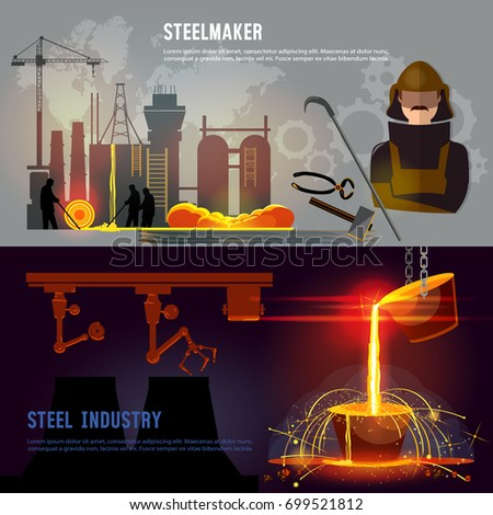 steel industry banner  iron and