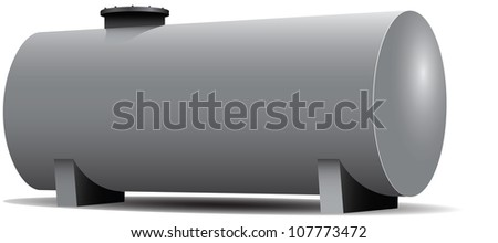 Steel Industry of the tank for the storage of flammable materials. Vector illustration.