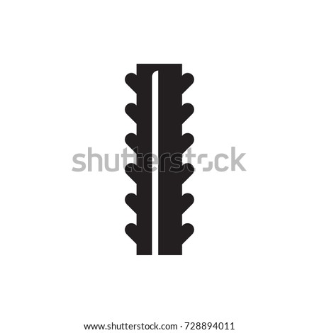 steel rebar icon vector