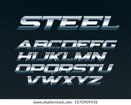 steel sans expanded font  metal