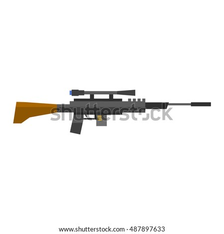 steel sniper rifle war gun