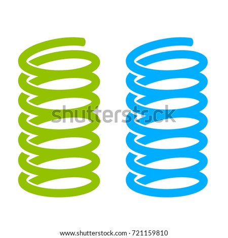 Steel spring vector icon on white background